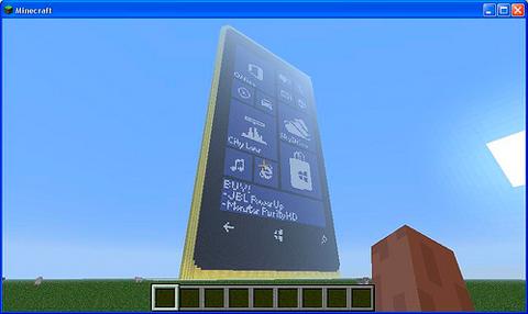 nokia lumia 920 построен в minecraft
